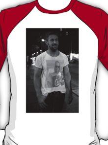 Ryan Gosling wearing a shirt of Macauley Culkin wearing a shirt of Ryan Gosling wearing a shirt of Macauley Culkin T-Shirt