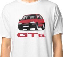 Daihatsu Charade GTti with badge, illustration, red Classic T-Shirt