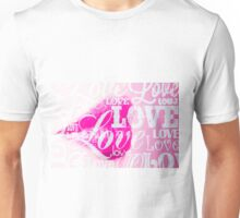 Love Lips pink Unisex T-Shirt