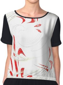 Abstract 138-WALL ART+Product Design Chiffon Top
