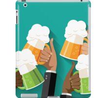 People clinking beer glasses.  iPad Case/Skin