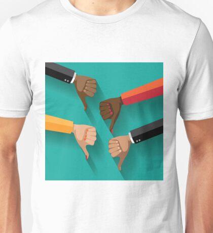 thumbs down, dislike flat design Unisex T-Shirt