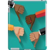 thumbs down, dislike flat design iPad Case/Skin