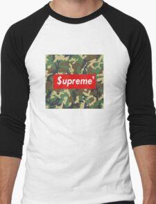 Supreme camo box logo Men's Baseball ¾ T-Shirt