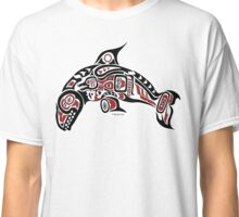 Haida Tlingit Killer Whale, Native American Orca - Red Classic T-Shirt