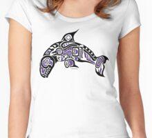 Haida Tlingit Killer Whale, Native American Orca - Purple Women's Fitted Scoop T-Shirt