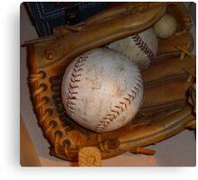 Baseball Mitt and Ball Canvas Print
