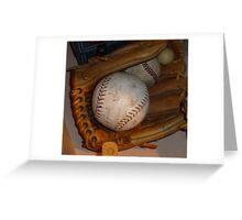 Baseball Mitt and Ball Greeting Card