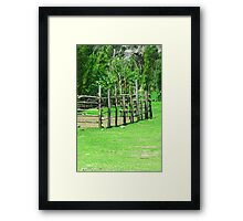 Holding Pen in a Pasture Framed Print