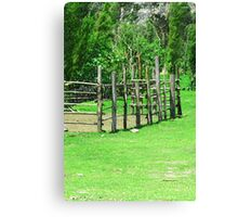 Holding Pen in a Pasture Canvas Print