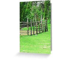 Holding Pen in a Pasture Greeting Card