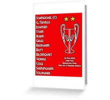 Manchester United 1999 Champions League Winners Greeting Card