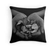 Dying Petals  Throw Pillow