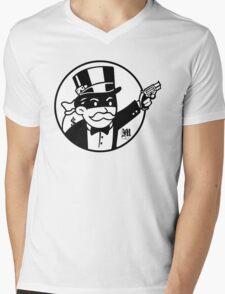 Rich Uncle Pennybags Mens V-Neck T-Shirt