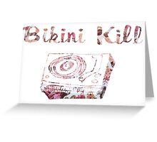 Bikini Kill Floral Logo Greeting Card