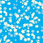 Confetti Star Pattern (BLUE x2) by Nina Buie