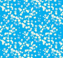 Confetti Star Pattern (BLUE x3) by Nina Buie