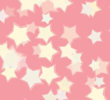 Confetti Star Pattern (PEACH x1) by Nina Buie