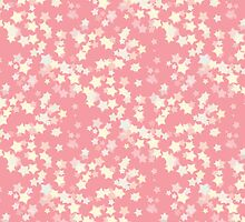 Confetti Star Pattern (PEACH x3) by Nina Buie