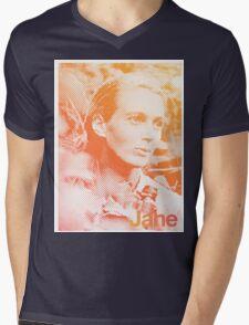 Jane Goodall Mens V-Neck T-Shirt