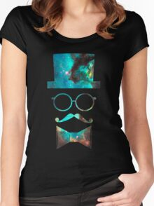Green Galaxy Fancy Women's Fitted Scoop T-Shirt