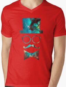 Green Galaxy Fancy Mens V-Neck T-Shirt