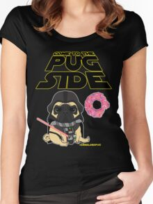 Come to the Pug Side Women's Fitted Scoop T-Shirt