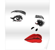Painted Lady Red Gloss Poster