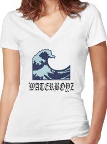 water boys emoji aesthetics Women's Fitted V-Neck T-Shirt
