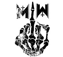 Motionless In White Middle Finger BLACK Photographic Print