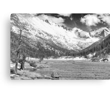 Mills Lake Monochrome Canvas Print