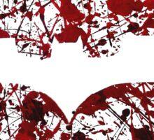 Batman Blood Splatter Sticker