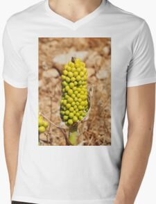 Dragon Lily seed head, Halki Mens V-Neck T-Shirt