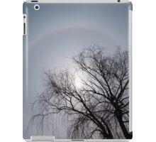 Sun Halo, Trees And Silver Gray Winter Sky iPad Case/Skin