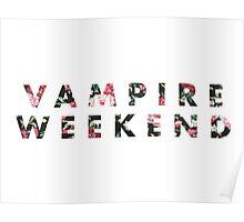Vampire Weekend Floral Poster