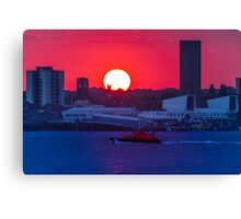 Seacombe Sunset Canvas Print