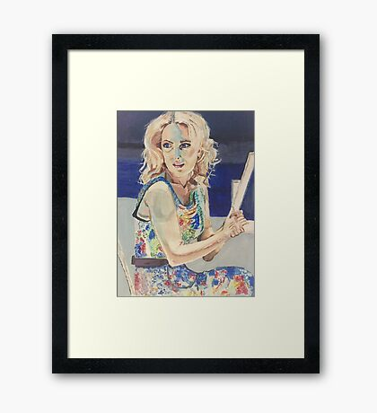 Blanche in Blue Framed Print