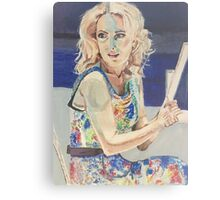 Blanche in Blue Metal Print