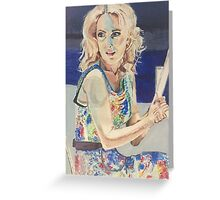 Blanche in Blue Greeting Card