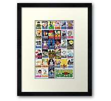 Hunter x Hunter manga covers Framed Print