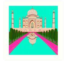 A Still Day in Agra (Aqua) Art Print