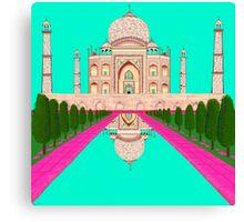 A Still Day in Agra (Aqua) Canvas Print