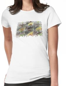 Forest of Beavers Womens Fitted T-Shirt