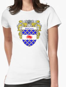 McCann Coat of Arms/Family Crest Womens Fitted T-Shirt