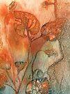 Violet Leaves 2 by Val Spayne