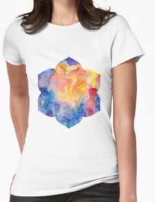 Lotus Flower 6 petals Womens Fitted T-Shirt