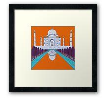 A Still Day in Agra (orange) Framed Print