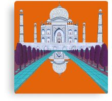A Still Day in Agra (orange) Canvas Print