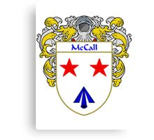 McCall Coat of Arms/Family Crest Canvas Print