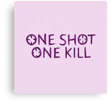 One Shot One Kill Canvas Print